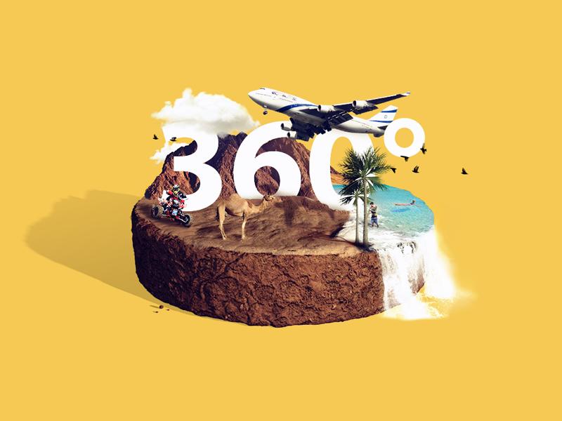 360 Earth WIP israel 3d cloud palm tree trees sea water desert plane 360