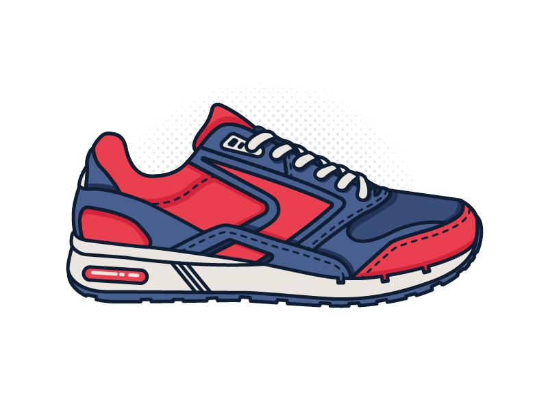Brooks Sneaker Illustration shoe line art sticker heritage illustration running brooks sneaker