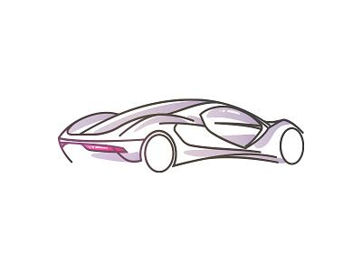 Concept Car minimal future marcedes illustration art