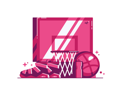 Ball is Life pixel grid shine sneakers dribbble playoff basketball
