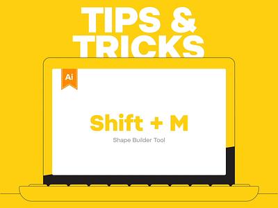 Tips & Tricks Shift + M (Pathfinder) tut tutorial design vector illustration