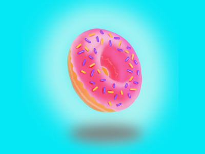 Donut illustration ipad procreate donut draw illustration vector design