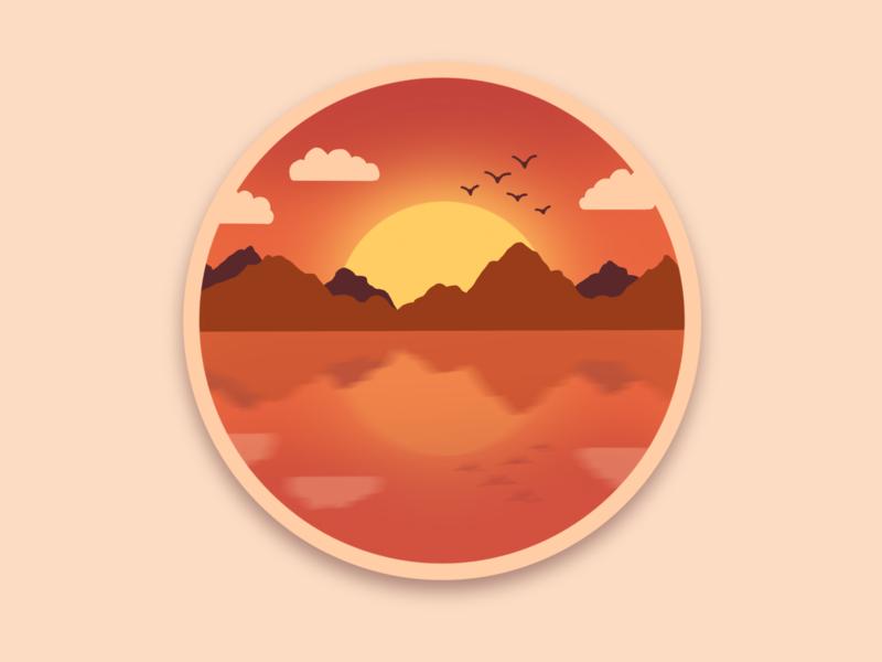Lake landscape artwork art procreate app design landscape draw illustraion ipad ipadpro procreate