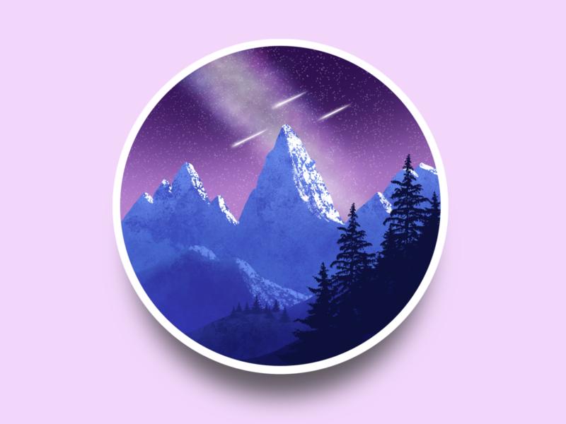 Mountain landscape drawingart artwork art ipad pro ipad mountain landscape procreate design illustration draw