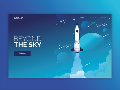 Landing Page - Orionis space colorful illustration landing page interfaces uiux interface concept ui design