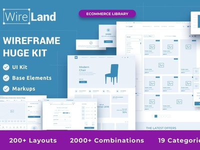 Wireframe Library for Ecommerce - DOWNLOAD