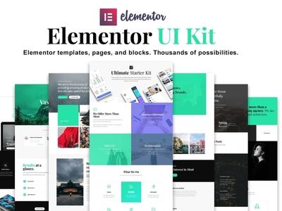 Elementor UI Kit, Templates, Blocks