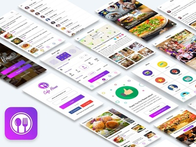 Cafe House Restaurant App UI Kit - DOWNLOAD