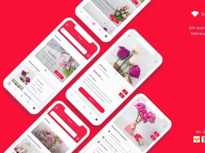 Zambak - Gift and Flower App UI Kit