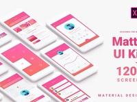 Material Design Mobile UI Kit for Xd