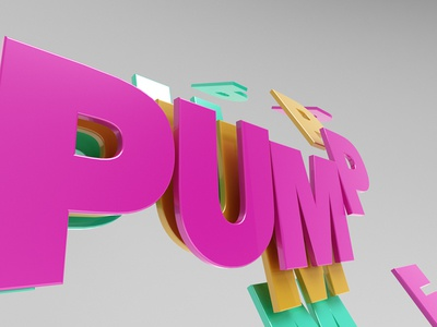 Pumped Ident 2 advertising ident color c4d 3d 2d ae motion design animation
