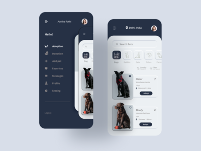 Pet Adoption App ui minimal pet adoption pet adoption app pet care pet design app