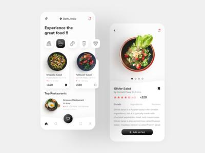Food Delivery App healthy minimal food ordering app food food app design app