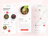 Food Delivery App ui design food ordering app food delivery app food app mobile ui mobile app ui minimal