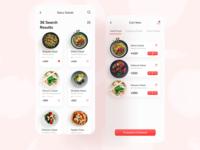 Food App food ui mobile ui mobile app minimal