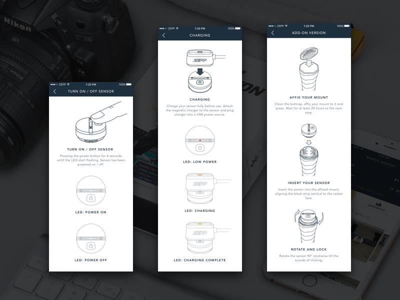 ZEPP Badminton App Help zepp xg wireframe ux ui ue sport sensor icon help court badminton