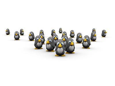 Maybe It's Over To The Left penguin playful simple minimal birdie funny fun cuddly cute penguins cartoon 3d digital illustration digital art illustration