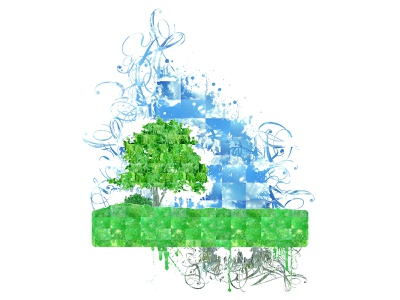 Gyroscopic Nature Belly organic splatter painting nature illustration grass sky nature design colorful art digital illustration digital art illustration