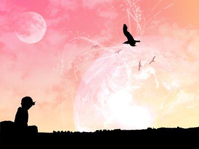 It's Like I Hardly See The Sky Somedays soothing calm nature space earth 3dsmax illustrator design fun vector colorful art digital illustration digital art illustration
