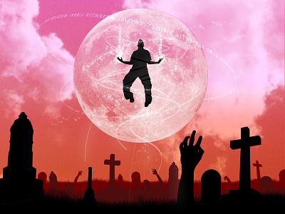 You Must Believe Me When I Say I'm Fighting The Dead graveyard apocalypse floating zombie 3dsmax cartoon fun vector 3d art colorful digital illustration digital art illustration