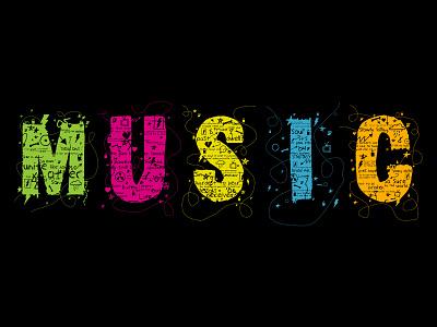 MUSIC music art musicislife song singing lyrics typography inspiration music illustrator cartoon vector colorful art digital art illustration