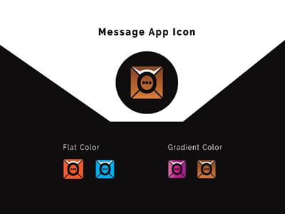 Message app icon mobile app icon package. logo design branding brand identity design gradient design colorfull icon design flat icon vector icon pack abstract app icon design icon design app icon message app icon