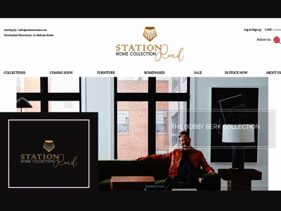 Station road home collection | re-design online shop logo furniture store redesign home collection logo online store online shop brand logo minimalist logo minimalist logo design brand logo design branding