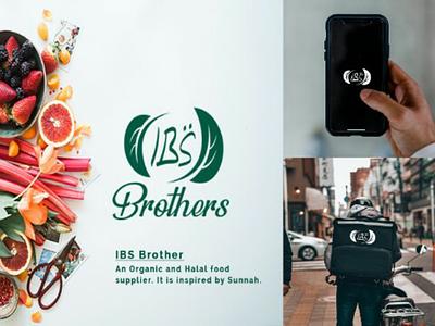 IBS Brothers | Organic and Halal food supplier agency logo. food agency natural logo natural logo mark lettermark logo simple logo branding organic brand food brand brand food shop organic food logo food supplier organic food supplier organic logo