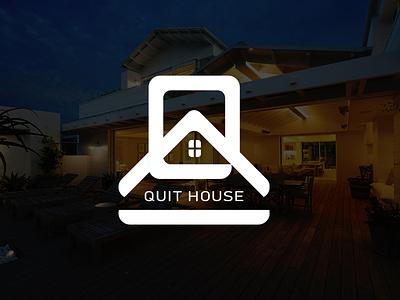 Quit House | Rest-House Logo Design q letter logo lettermark agency logodesign real estate logo real estate realestate hotel booking restaurant hostel house logo housing