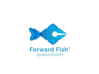 Forward Fish | Modern Publications Logo Design pen logo book publications publication fish logo design minimalist logo brand logo design professional logo logoinspirations logo design branding