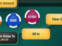 Texas hold'em poker UI