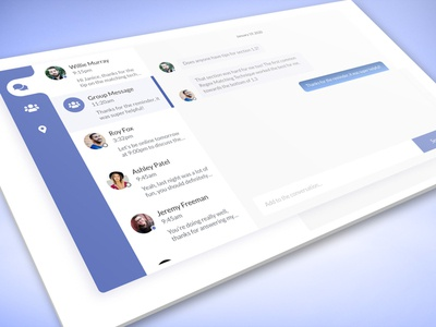 Group Chat UI Design