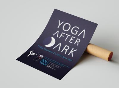 Yoga After Dark Flyer Design
