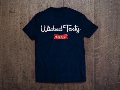 Tasty Burger T Shirt Design