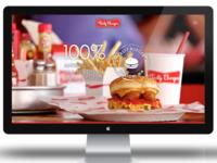 Tasty Burger website concept