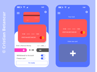 CardApp - Virtual Card App Desing