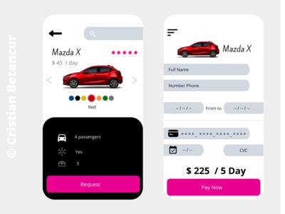 RentaCarApp - App Desing Renta Car