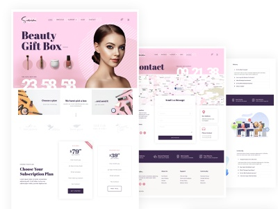 dribbble feminine elementor-pro subscription box themeforest landing page