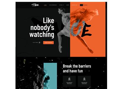 Tanz, an Elementor Template Kit For Dance Studios dance school dancing black dark dancer orange themeforest dance
