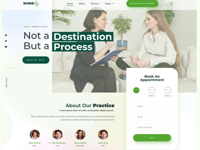 Mindly - Home Page psychotherapy elementor clean counseling psychology themeforest
