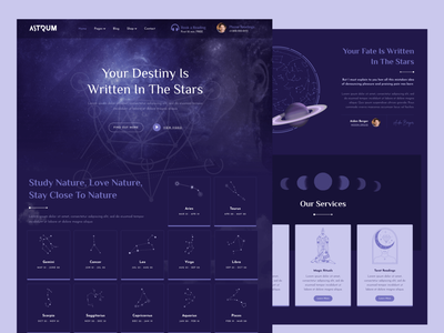 Astrum - Horoscope, Astrology & Esoterism Elementor Template Kit witchcraft spiritual numerology horoscope esoterism astrology elementor themeforest