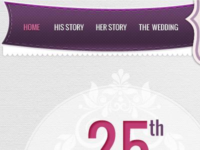 Wedding Day Template wedding menu texture purple themeforest
