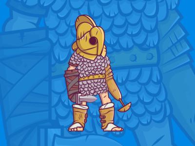 "Character design ""Gladiator Scissor"""