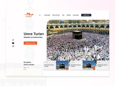 Hajj Travel Agency ui design travel ui tourism website turkey umrah mecca hajj web design travel website agency website