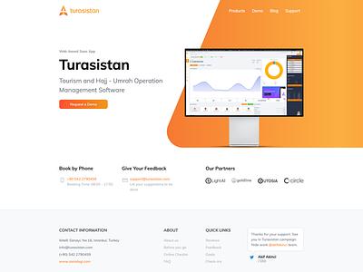 Turasistan - Landing page product page website design web design webdesign website landing landingpage branding app ui uidesign saas app