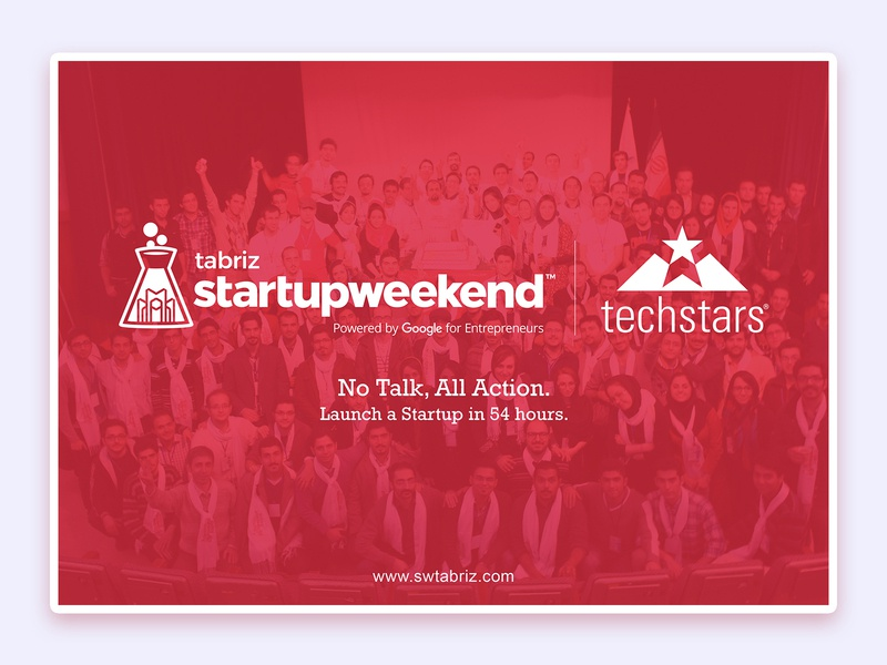 Tabriz Startup Weekend user interface red startup weekend startup banner uidesign ui