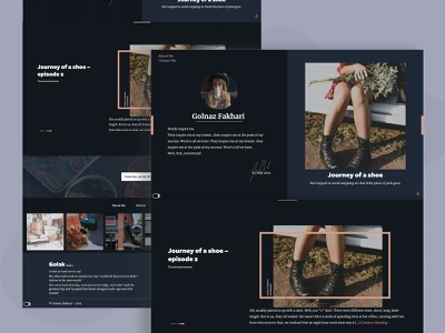 Golak.ca - Night Mode storytelling story personal branding personal blog design author user interface uidesign ui