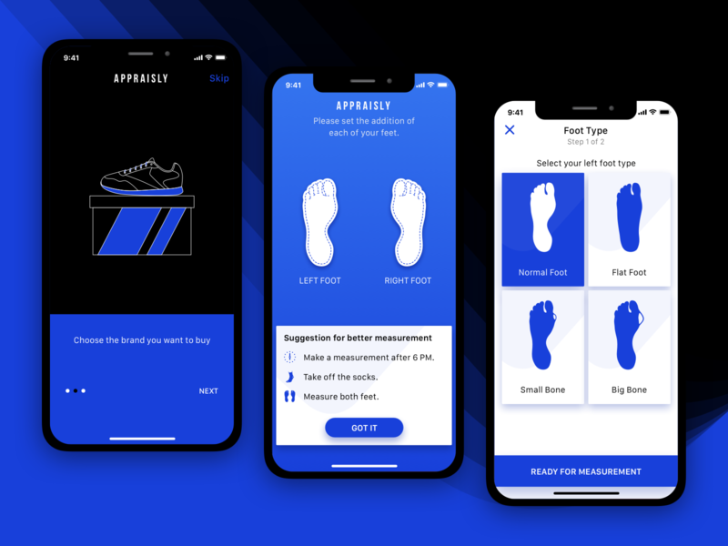 Appraisly – AR measurement app ux userinterface userexperience ui simple minimal measurement mobile ios flat design brand ar app