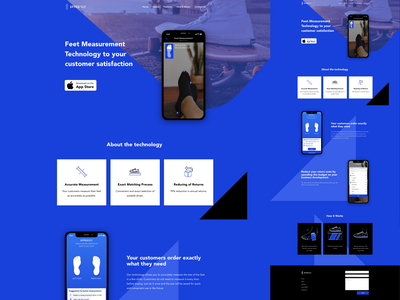 Appraisly – Landing page ios app mobile data visual feet technology minimal simple brand measurement ml ar design ux ui web design landing web