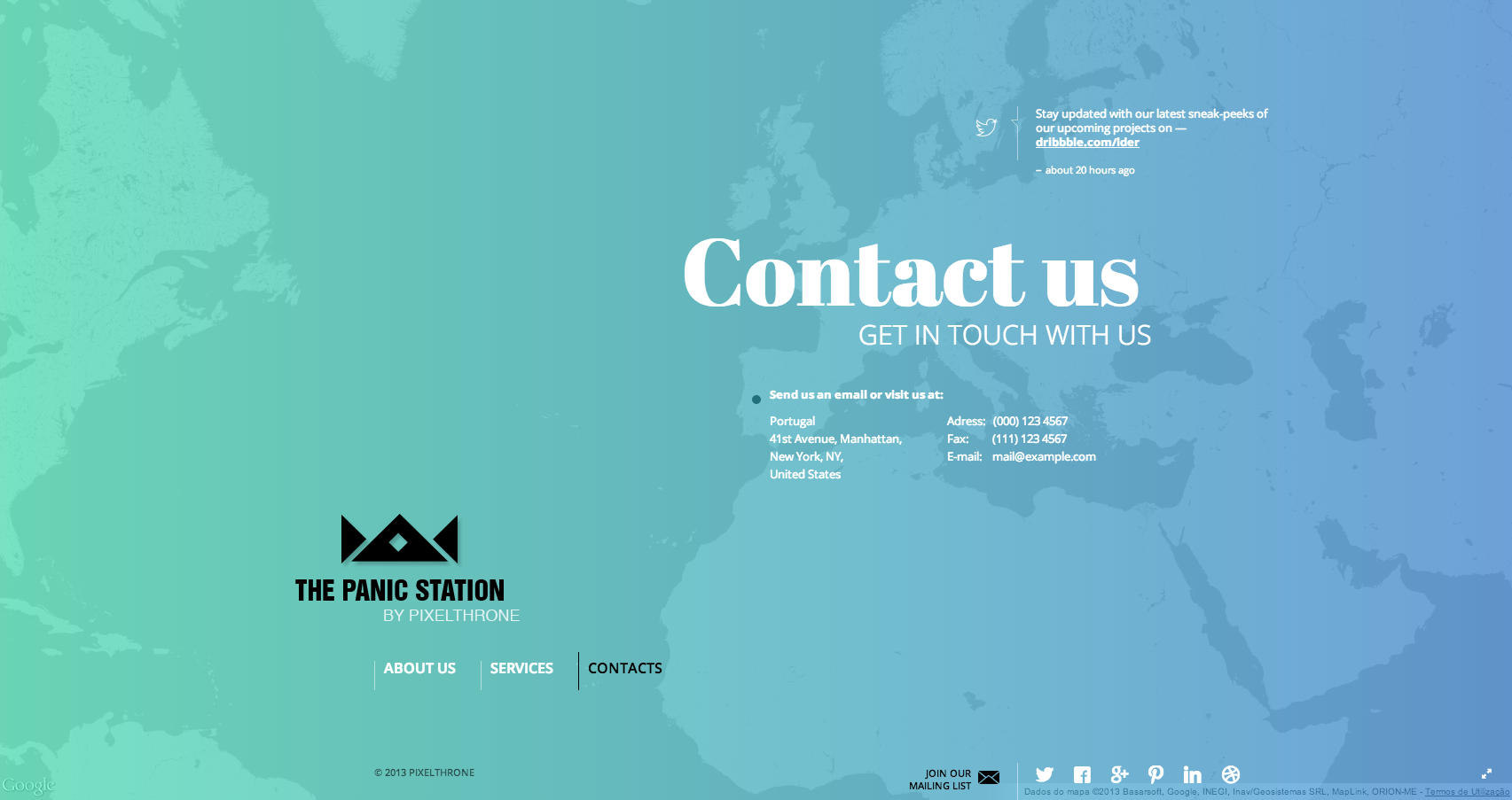 The panic station   contact us
